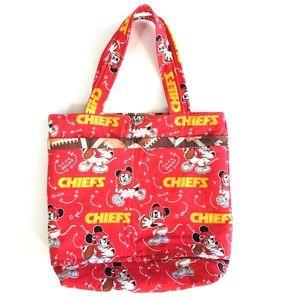 NFL Kansas City Chiefs Disney Patterned Tote Bag M